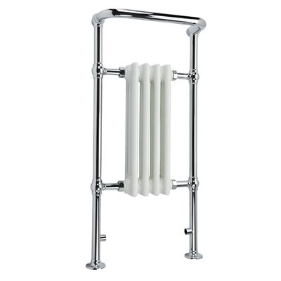 KIRBY SEBASTIAN VICTORIA PREMIUM SMALL CHROME & WHITE BATHROOM TRADITIONAL TOWEL RAIL/WARMER, RT01