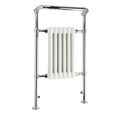KIRBY SEBASTIAN VICTORIA PREMIUM MEDIUM CHROME & WHITE BATHROOM TRADITIONAL TOWEL RAIL/WARMER, RT11