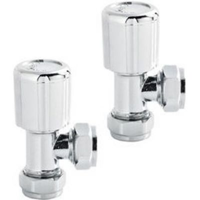 HUDSON REED CHROME ANGLED RADIATOR VALVES, RV003