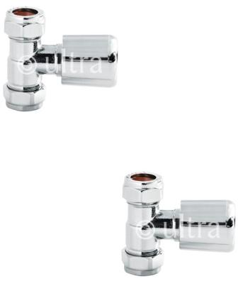 HUDSON REED CHROME STRAIGHT RADIATOR VALVES, RV004