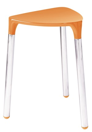 BATHROOM ORIGINS GEDY YANNIS ORANGE/CHROME STOOL, 2172-67