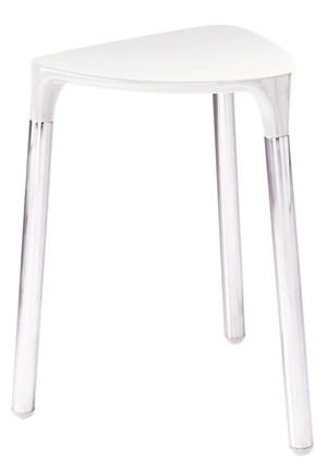 BATHROOM ORIGINS GEDY YANNIS WHITE/CHROME STOOL, 2172-02