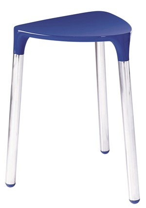 BATHROOM ORIGINS GEDY YANNIS BLUE/CHROME STOOL, 2172-05
