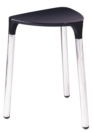 BATHROOM ORIGINS GEDY YANNIS BLACK/CHROME STOOL, 2172-14