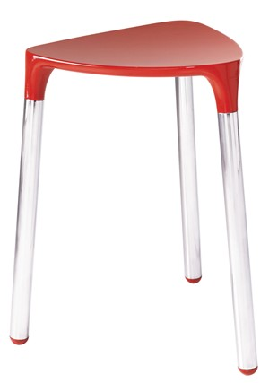 BATHROOM ORIGINS GEDY YANNIS RED/CHROME STOOL, 2172-06