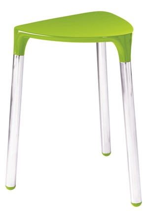 BATHROOM ORIGINS GEDY YANNIS GREEN/CHROME STOOL, 2172-04