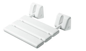 BATHROOM ORIGINS GEDY WHITE HINGED SHOWER SEAT, 2283-02