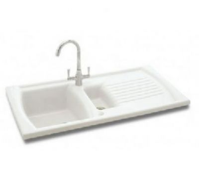 CARRON PHOENIX SOLARIS 150 INSET WHITE CERAMIC SINK, 150