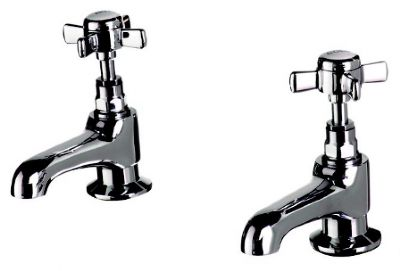 CLEARANCE CASSELLIE TIME CHROME TRADITIONAL BASIN TAPS, TIM004