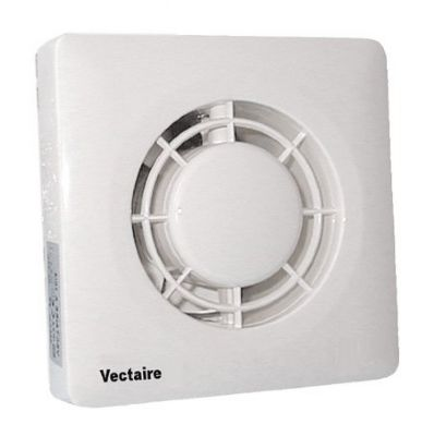 VECTAIRE SAFETY EXTRA LOW VOLTAGE (SELV) IP57 WHITE CORD or REMOTE 10cm BATHROOM/KITCHEN AXIAL EXTRACTOR FAN, A10/4CLV