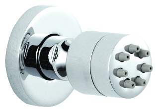 CLEARANCE ULTRA SHOWER EXTRAS CHROME ROUND BODY JET, A3084