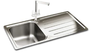 CARRON PHOENIX ADELPHI 100 INSET POLISHED STAINLESS STEEL SINK, 100