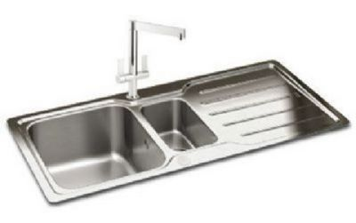 CARRON PHOENIX ADELPHI 150 INSET POLISHED STAINLESS STEEL SINK, 150