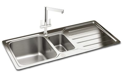 CLEARANCE CARRON PHOENIX ADELPHI 150 INSET POLISHED STAINLESS STEEL SINK, 150