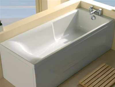 CARRON AXIS WHITE 1500mm x 700mm CARRONITE EASY ACCESS BATH, 23.5451