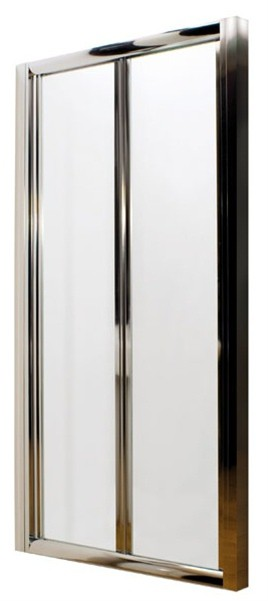 ULTRA PREMIER BATHROOM COLLECTION PACIFIC POLISHED CHROME BI-FOLD SHOWER DOOR 760mm, AQBD76