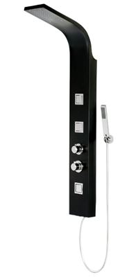 CASSELLIE LUNA THERMOSTATIC BLACK/CHROME SHOWER PANEL/TOWER, BSP001