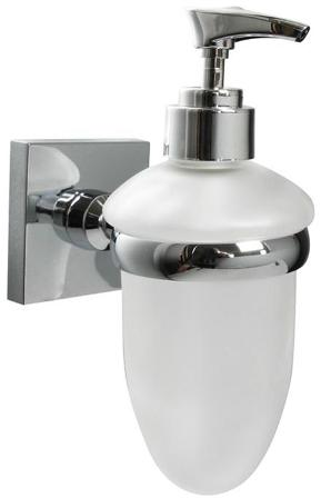 MILLER BEEM CUBE CHROME BATHROOM FROSTED GLASS LOTION BOTTLE, C34