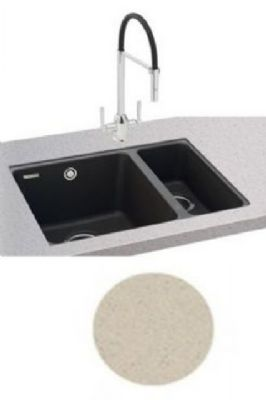 CARRON PHOENIX FIJI 150-16 UNDERMOUNTED CHAMPAGNE GRANITE SINK, 150-16