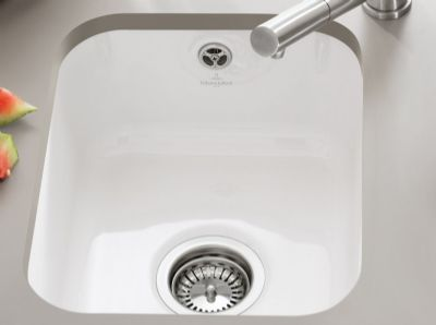 CLEARANCE VILLEROY & BOCH CISTERNA 50 ALPINE WHITE CERAMIC UNDERMOUNTED SINK, 67030001