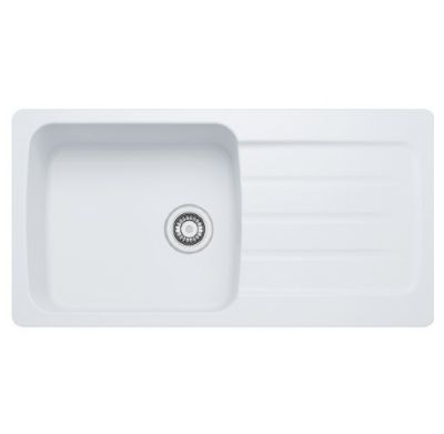 'FREE' PURA TAP with CARRON PHOENIX COLUMBA 100 INSET ARCTIC WHITE SYNTHETIC SINK, 100