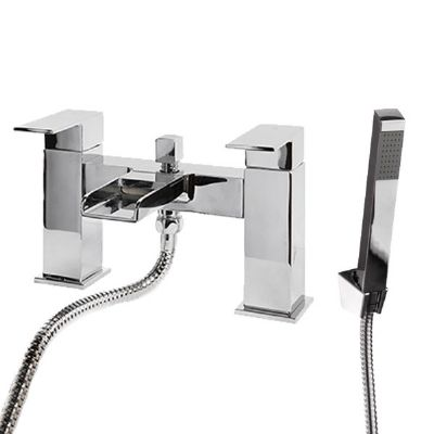 CASSELLIE DUNK CHROME BATHROOM WATERFALL BATH SHOWER MIXER TAP, DUK002