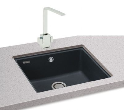 CARRON PHOENIX FIJI 100 UNDERMOUNTED JET BLACK GRANITE SINK, 100