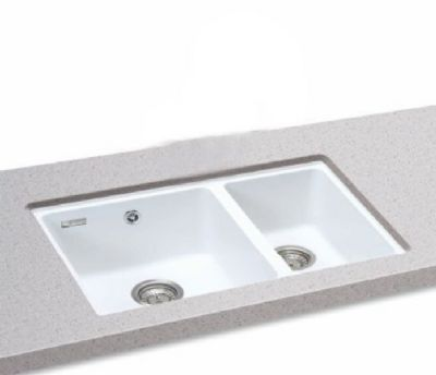 CARRON PHOENIX FIJI 150 UNDERMOUNTED POLAR WHITE GRANITE SINK, 150