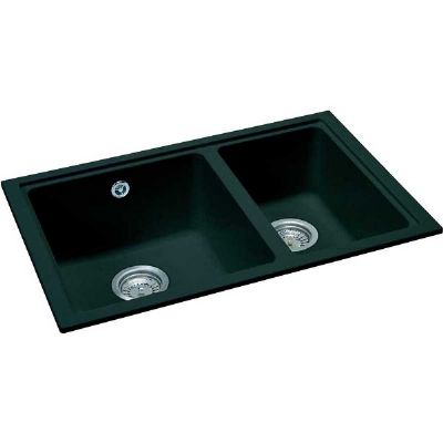CARRON PHOENIX FIJI 150 UNDERMOUNTED JET BLACK GRANITE SINK, 150
