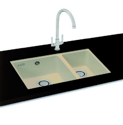 CARRON PHOENIX FIJI 150 UNDERMOUNTED CHAMPAGNE GRANITE SINK, 150