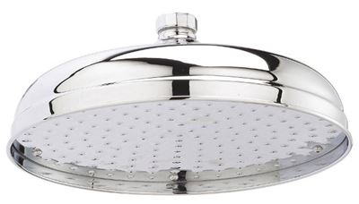 HUDSON REED 12 inch APRON CHROME ROUND FIXED SHOWER HEAD, HEAD16
