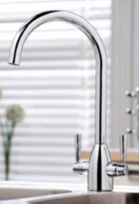 CLEARANCE SCUDO KITCHEN MARLOW CHROME MODERN CRUCIFORM MONO SINK MIXER TAP, KT14