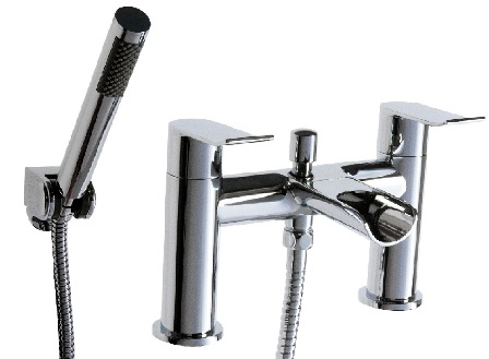 CASSELLIE LOU CHROME BATHROOM WATERFALL BATH SHOWER MIXER TAP, LOU002