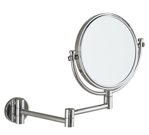 BATHROOM ORIGINS GEDY CHROME REVERSIBLE 2x MAGNIFYING ROUND WALL MIRROR, 2104-13