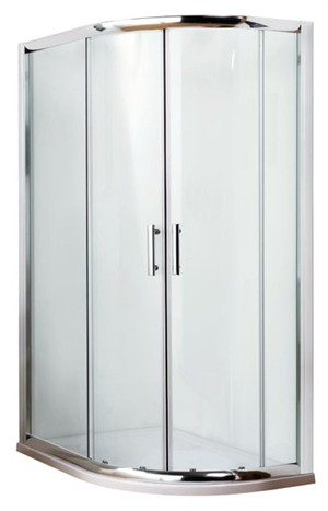 ULTRA PREMIER BATHROOM COLLECTION PACIFIC POLISHED CHROME 2 SLIDING DOOR 1000mm x 800mm OFFSET QUADRANT SHOWER CUBICLE, AQU108