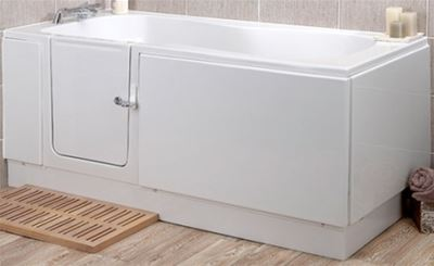 KUBEX MOBILITY WHITE PEARL WALK IN BATH 1685mm x 750mm, PEARLL/H