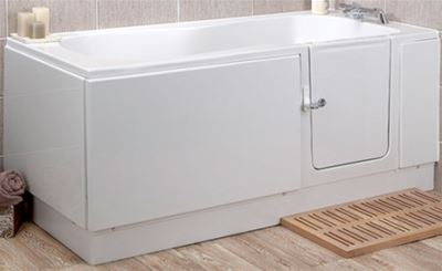 KUBEX MOBILITY WHITE PEARL WALK IN BATH 1685mm x 750mm, PEARLR/H