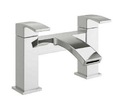 CLEARANCE CASSELLIE PEAK CHROME BATHROOM DECK MOUNTED BATH FILLER MIXER TAP, PEK003