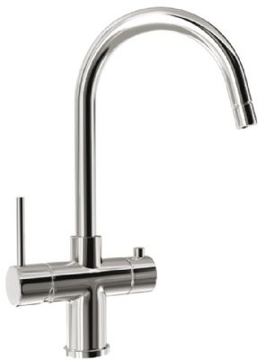CARRON PHOENIX SERAPHINA 3 IN 1 CHROME MODERN INSTANT HOT FILTERED WATER with HOT & COLD WATER LEVER TAP, SWIVEL SPOUT & INSTALLATION KIT, SERAPHINA