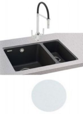 CARRON PHOENIX FIJI 150-16 UNDERMOUNTED POLAR WHITE GRANITE SINK, 150-16