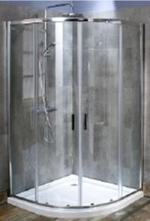 CLEARANCE CASSELLIE SEIS CHROME 2 SLIDING DOOR 800mm x 800mm QUADRANT SHOWER CUBICLE, QE08