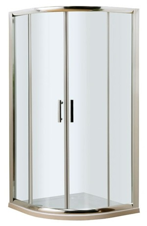 ULTRA PREMIER BATHROOM COLLECTION PACIFIC POLISHED CHROME 2 SLIDING DOOR 1000mm x 1000mm QUADRANT SHOWER CUBICLE, AQU10