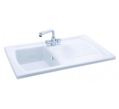 CARRON PHOENIX SOLARIS 100 INSET WHITE CERAMIC SINK, 100