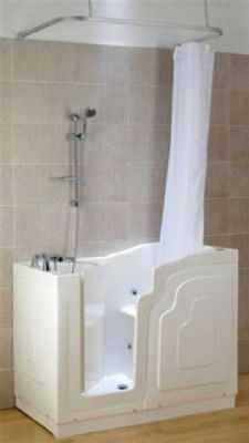 KUBEX MOBILITY WHITE SOLO WALK IN BATH 'SOLUTION PACK' 1220mm x 660mm, SSOP1