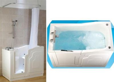KUBEX MOBILITY WHITE SOLO WALK IN BATH 'SOLUTION PACK' 1220mm x 660mm with 8 JET WHIRLPOOL SYSTEM, SSOP1/SWHIRL