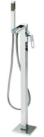 CASSELLIE DUNK/FALLS WATERFALL CHROME FREE STANDING BATH SHOWER MIXER TAP, CT001
