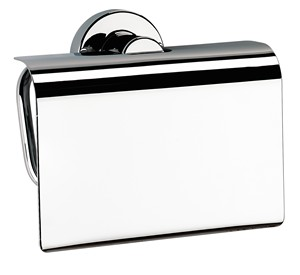 images/BATHROOM ORIGINS SONIA TECNO PROJECT CHROME BATHROOM TOILET ROLL HOLDER with FLAP, 116966