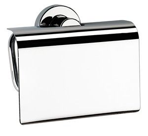 CLEARANCE BATHROOM ORIGINS SONIA TECNO PROJECT CHROME BATHROOM TOILET ROLL HOLDER with FLAP, 116966