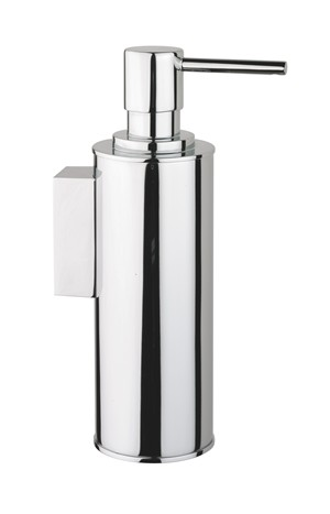 BATHROOM ORIGINS SONIA TECNO PROJECT CHROME BATHROOM WALL MOUNTED METAL SOAP DISPENSER, 126811