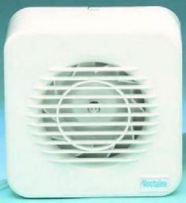 VECTAIRE 'MF' SUPER SILENT CENTRIFUGAL WHITE TIMER 10cm BATHROOM/KITCHEN EXTRACTOR FAN, MF100T